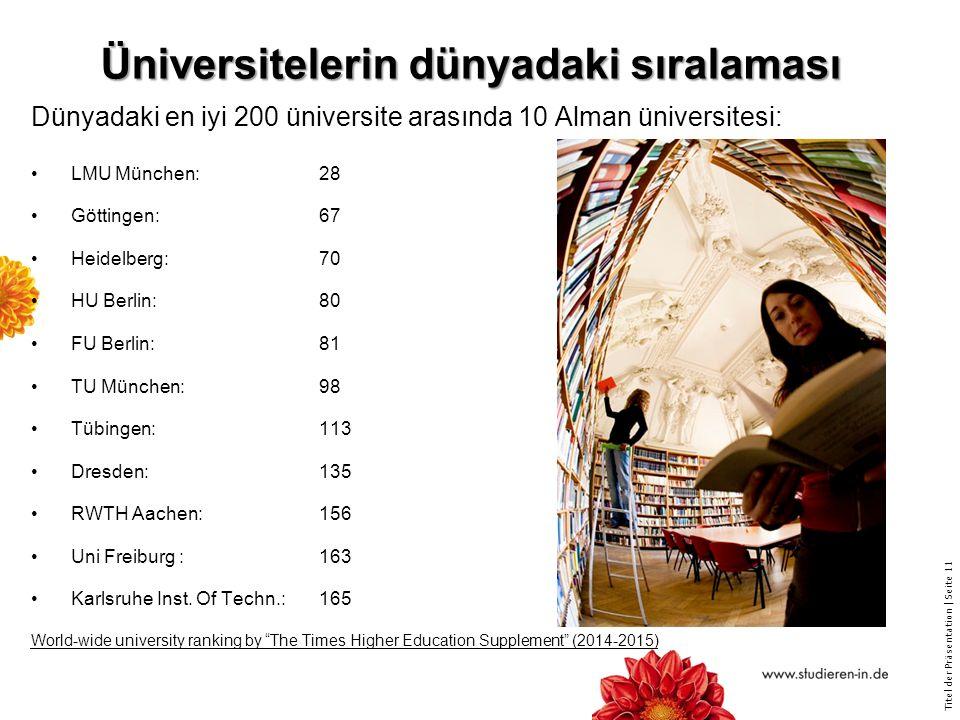 Üniversitelerin dünyadaki sıralaması