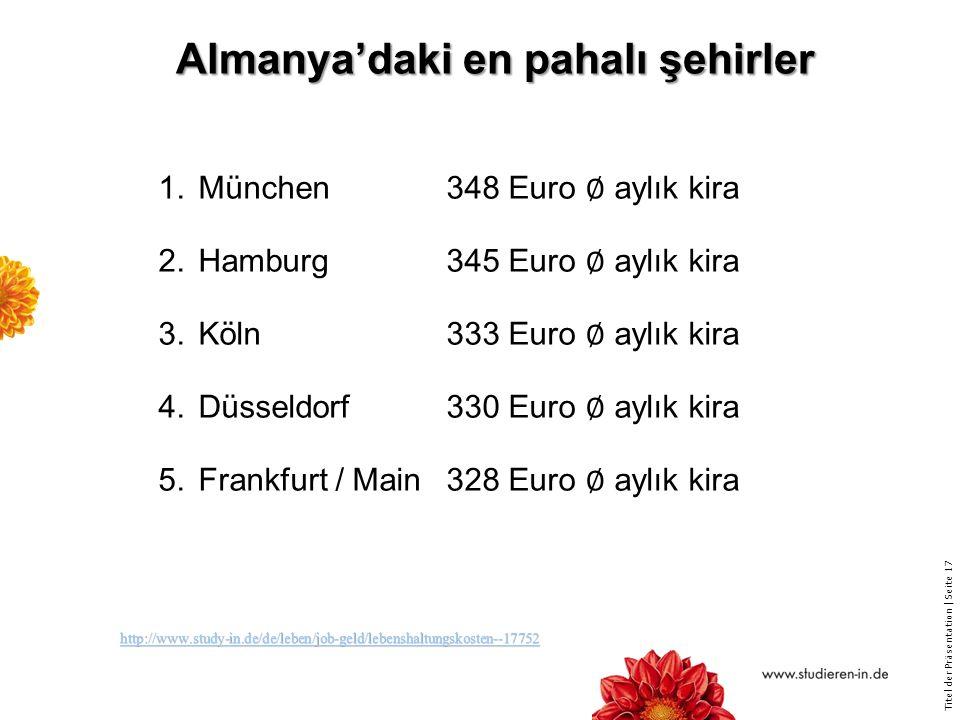 Almanya'daki en pahalı şehirler