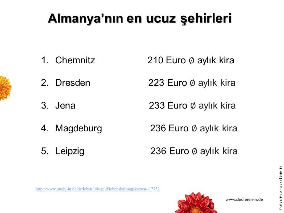 Almanya'nın en ucuz şehirleri