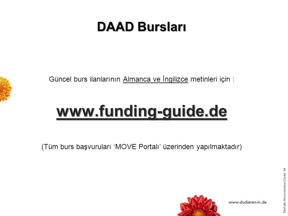 www.funding-guide.de DAAD Bursları