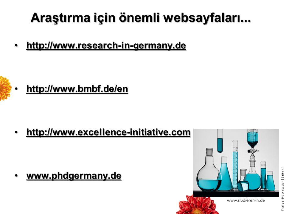 Araştırma için önemli websayfaları...