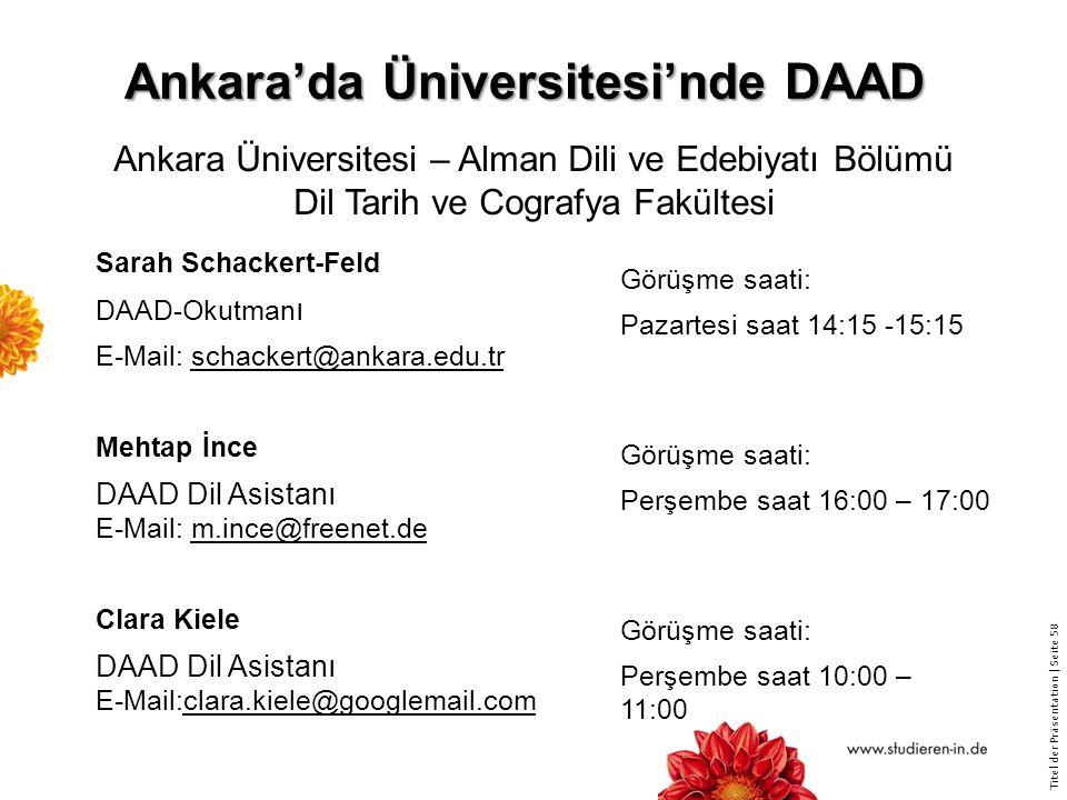 Ankara'da Üniversitesi'nde DAAD