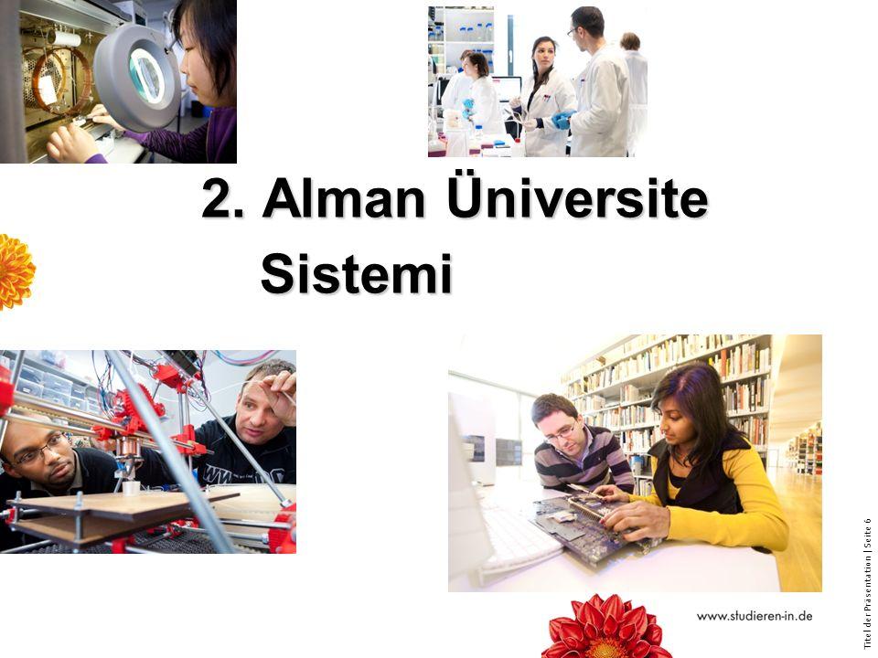 2. Alman Üniversite Sistemi