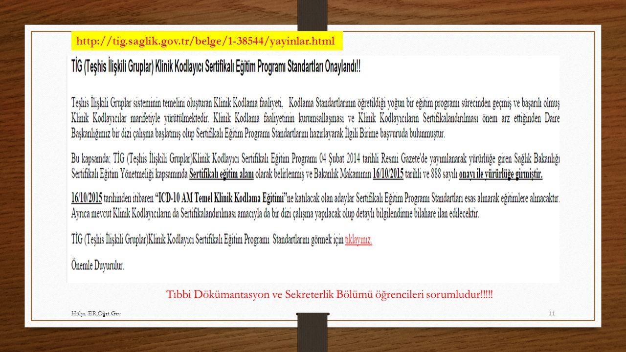 http://tig.saglik.gov.tr/belge/1-38544/yayinlar.html Hülya ER,Öğrt.Grv