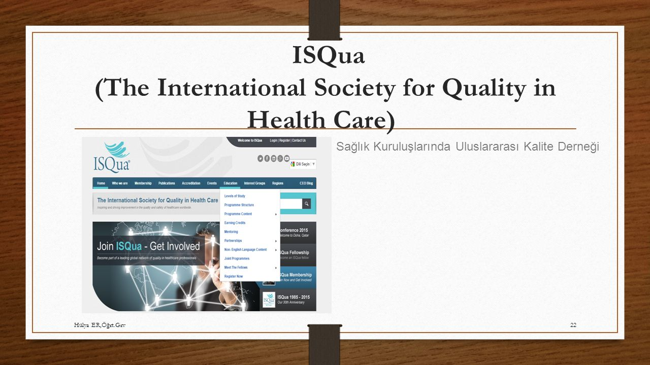ISQua (The International Society for Quality in Health Care)