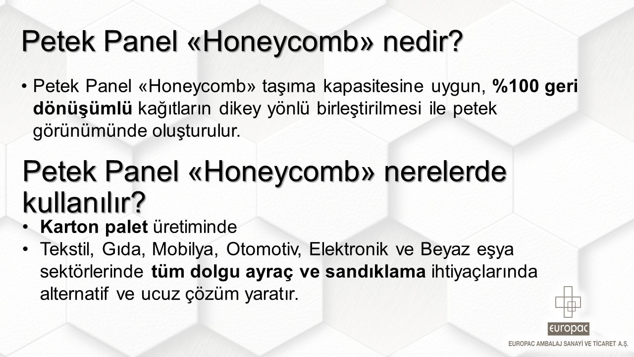 Petek Panel «Honeycomb» nedir