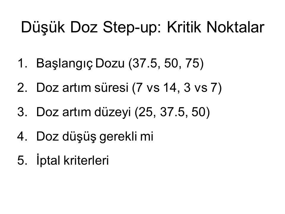 Düşük Doz Step-up: Kritik Noktalar