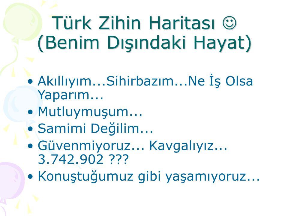 Türk Zihin Haritası  (Benim Dışındaki Hayat)