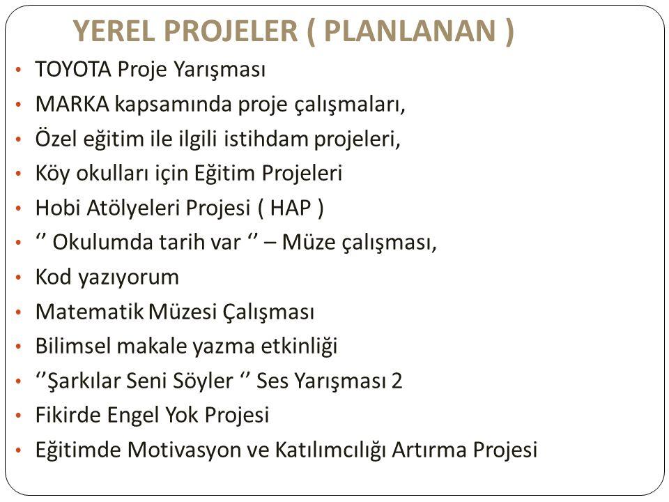YEREL PROJELER ( PLANLANAN )