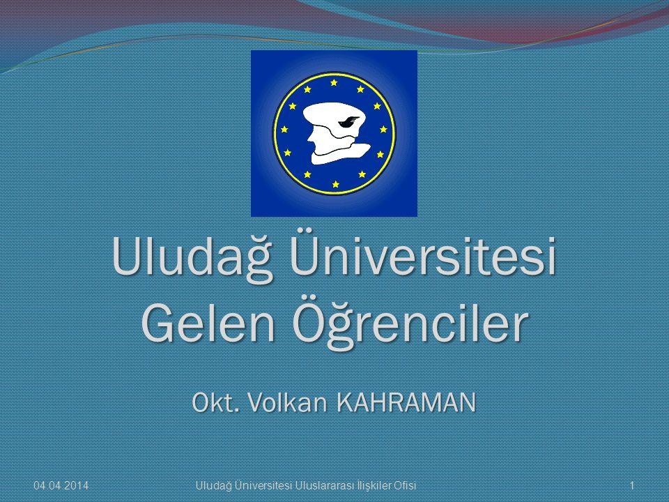 Uludağ Üniversitesi Gelen Öğrenciler Okt. Volkan KAHRAMAN