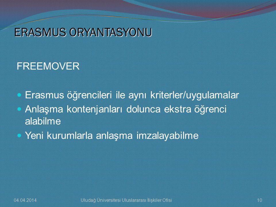 ERASMUS ORYANTASYONU FREEMOVER