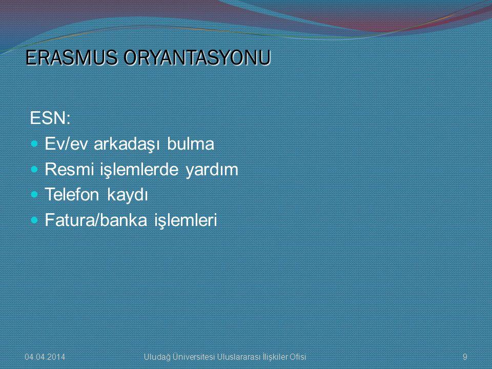 ERASMUS ORYANTASYONU ESN: Ev/ev arkadaşı bulma Resmi işlemlerde yardım