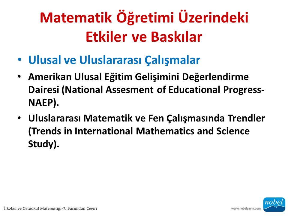 Matematik Öğretimi Üzerindeki Etkiler ve Baskılar