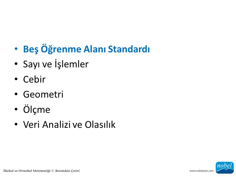 Beş Öğrenme Alanı Standardı