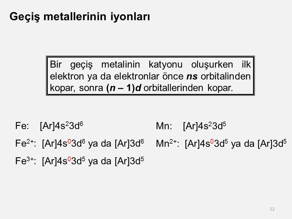 Geçiş metallerinin iyonları