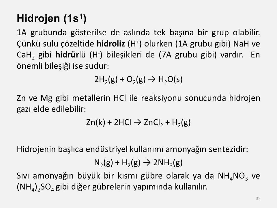 Hidrojen (1s1)