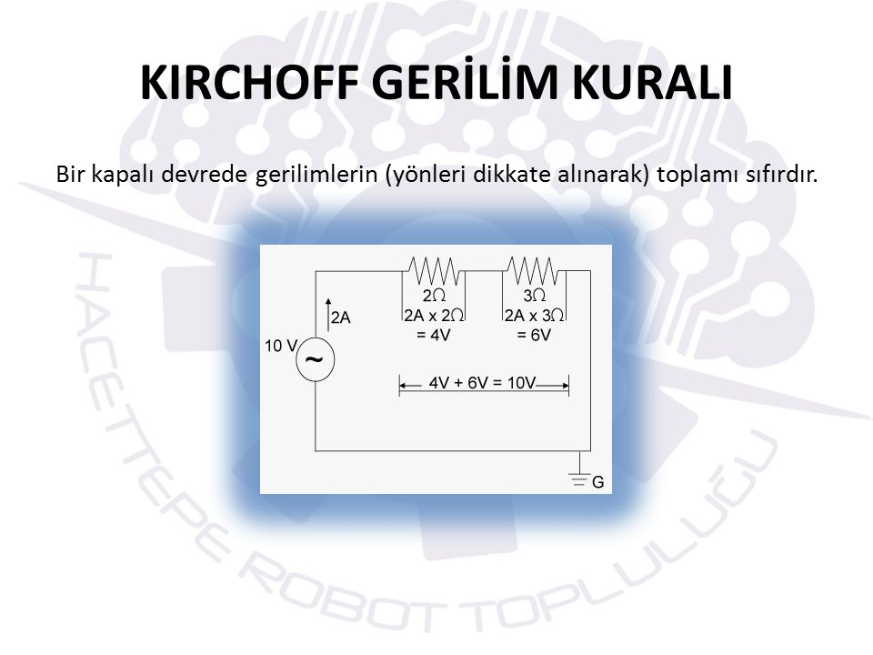 KIRCHOFF GERİLİM KURALI