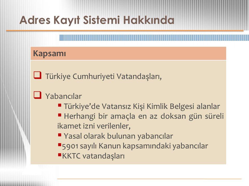 Adres Kayıt Sistemi Hakkında