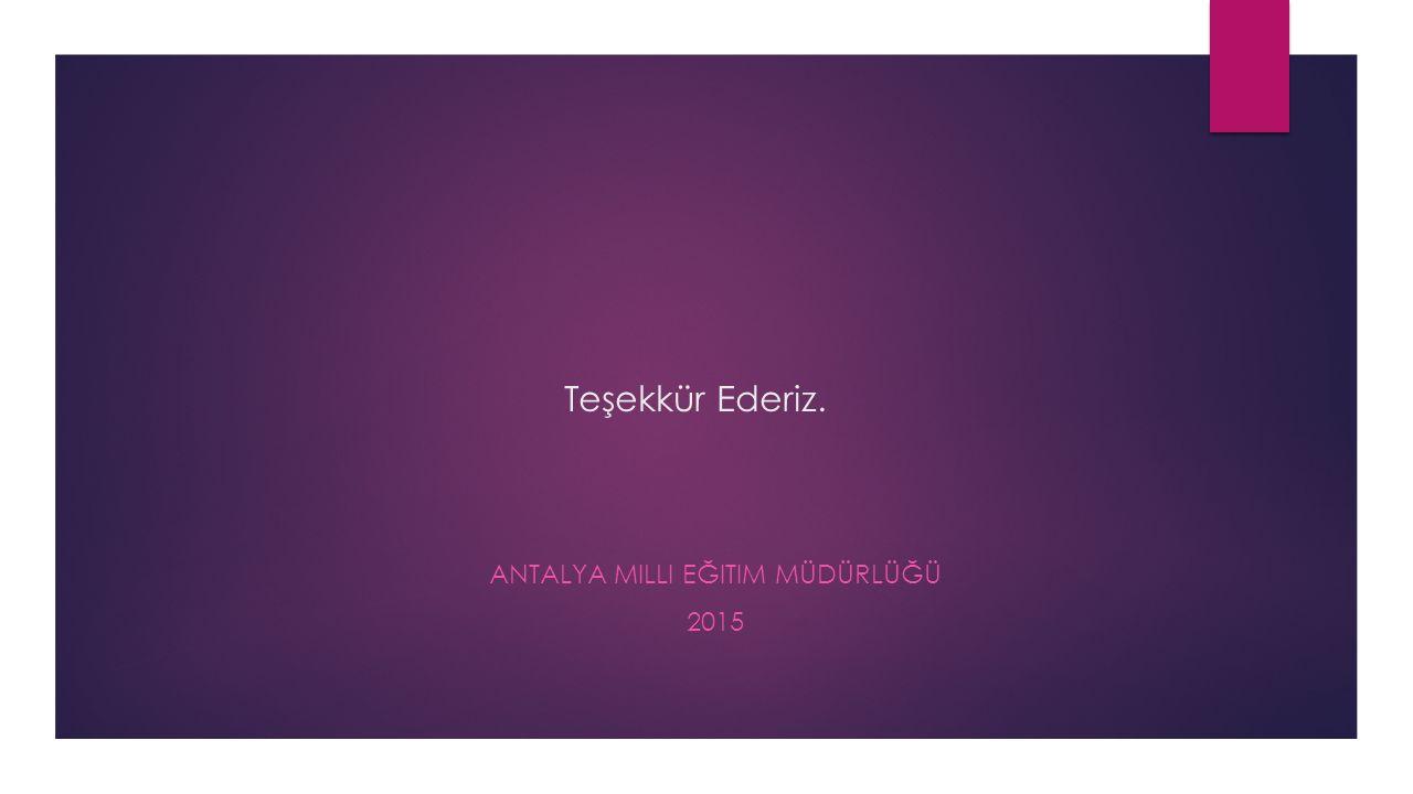 Antalya Milli Eğitim Müdürlüğü 2015