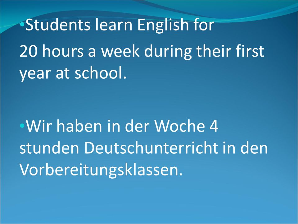 Students learn English for