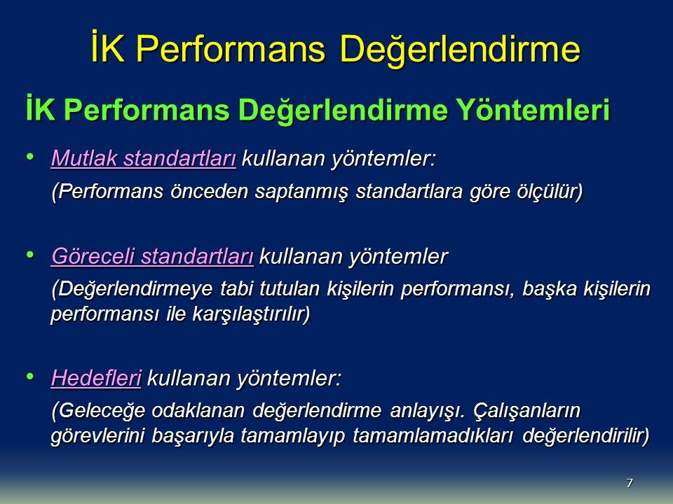 İK Performans Değerlendirme