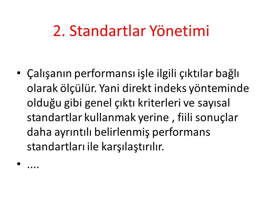 2. Standartlar Yönetimi