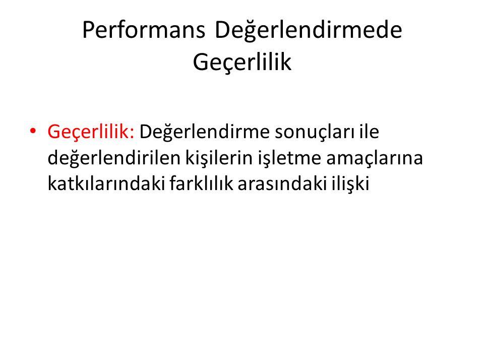Performans Değerlendirmede Geçerlilik