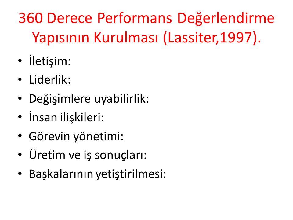 360 Derece Performans Değerlendirme Yapısının Kurulması (Lassiter,1997).