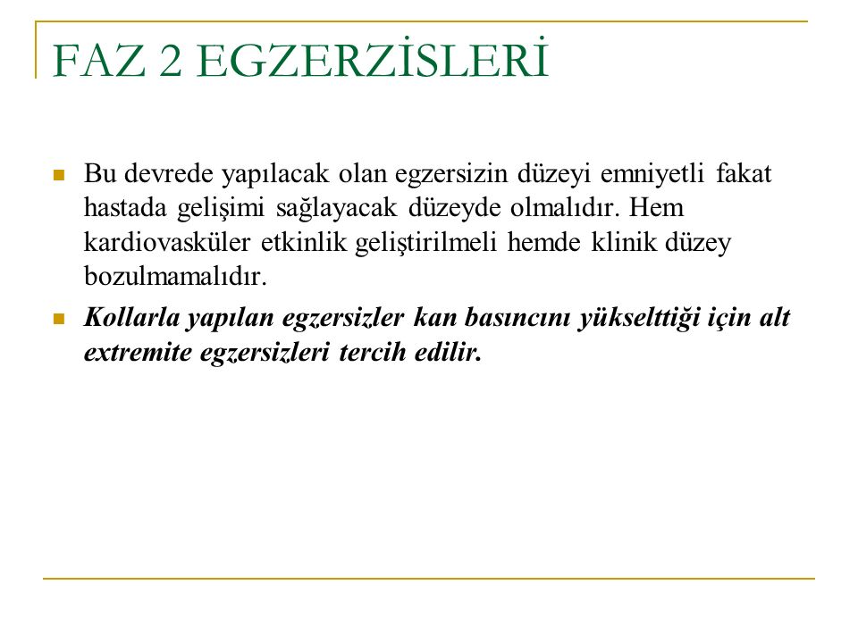 FAZ 2 EGZERZİSLERİ