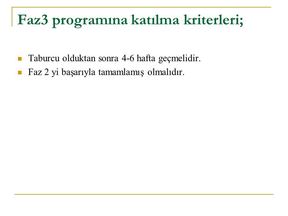 Faz3 programına katılma kriterleri;
