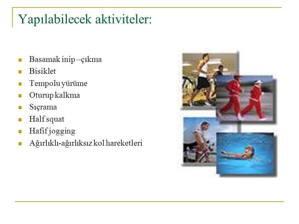 Yapılabilecek aktiviteler: