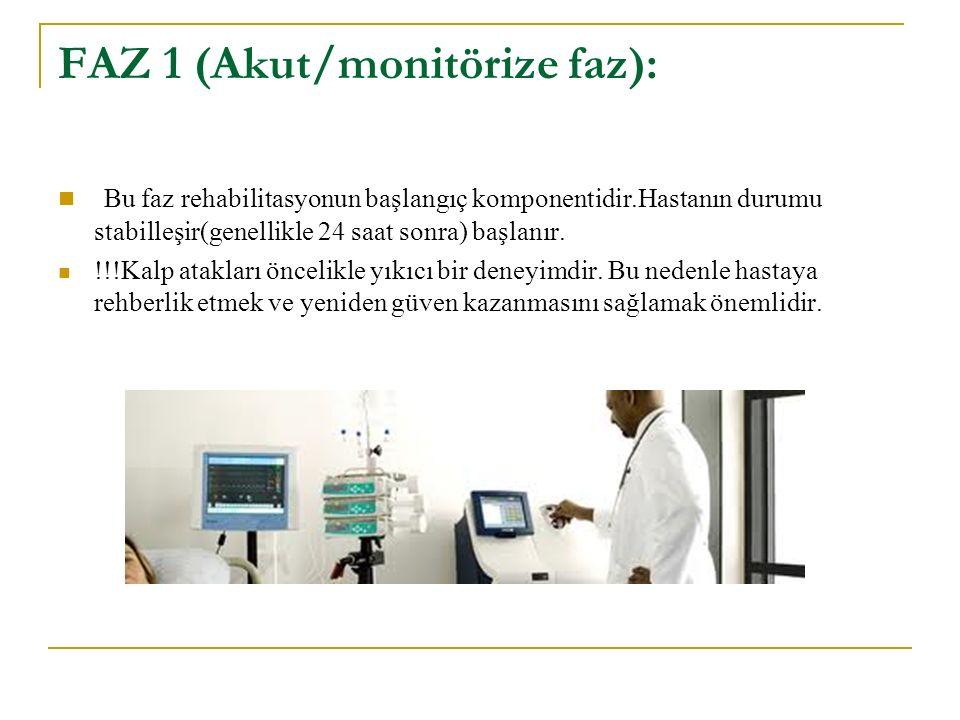 FAZ 1 (Akut/monitörize faz):