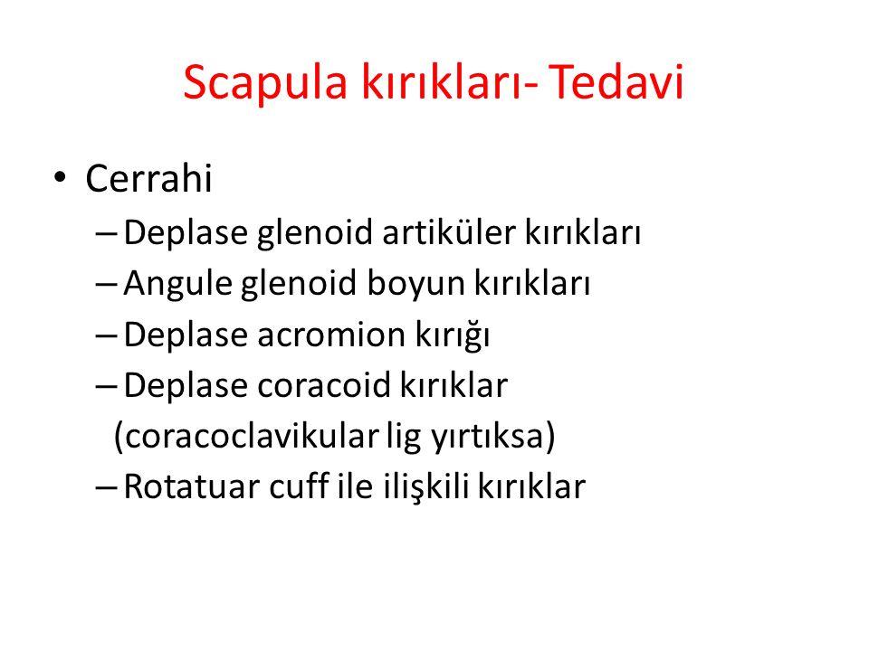 Scapula kırıkları- Tedavi