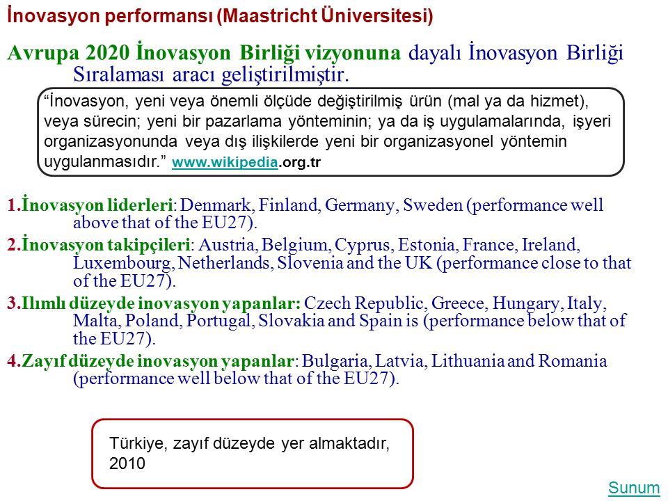 İnovasyon performansı (Maastricht Üniversitesi)