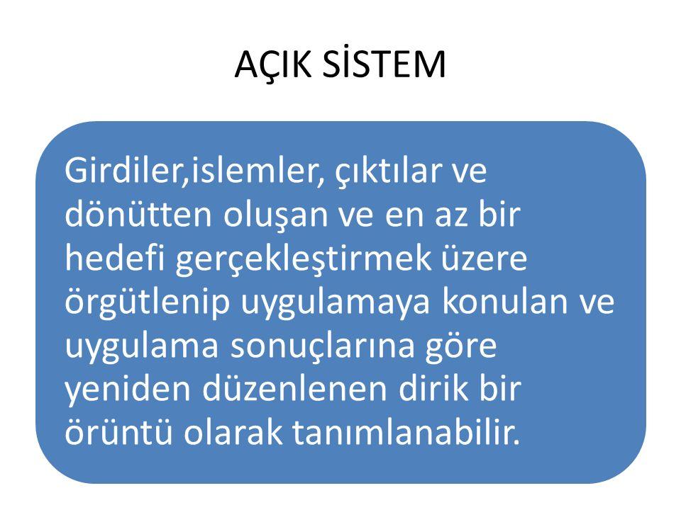 AÇIK SİSTEM
