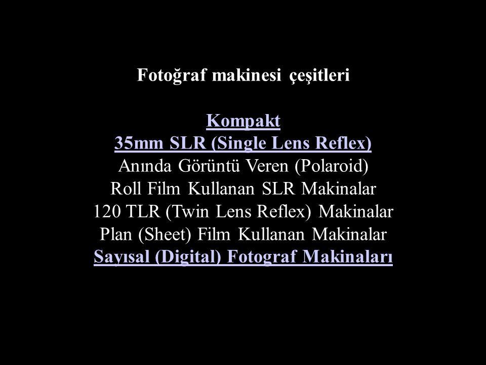 Fotoğraf makinesi çeşitleri Sayısal (Digital) Fotograf Makinaları