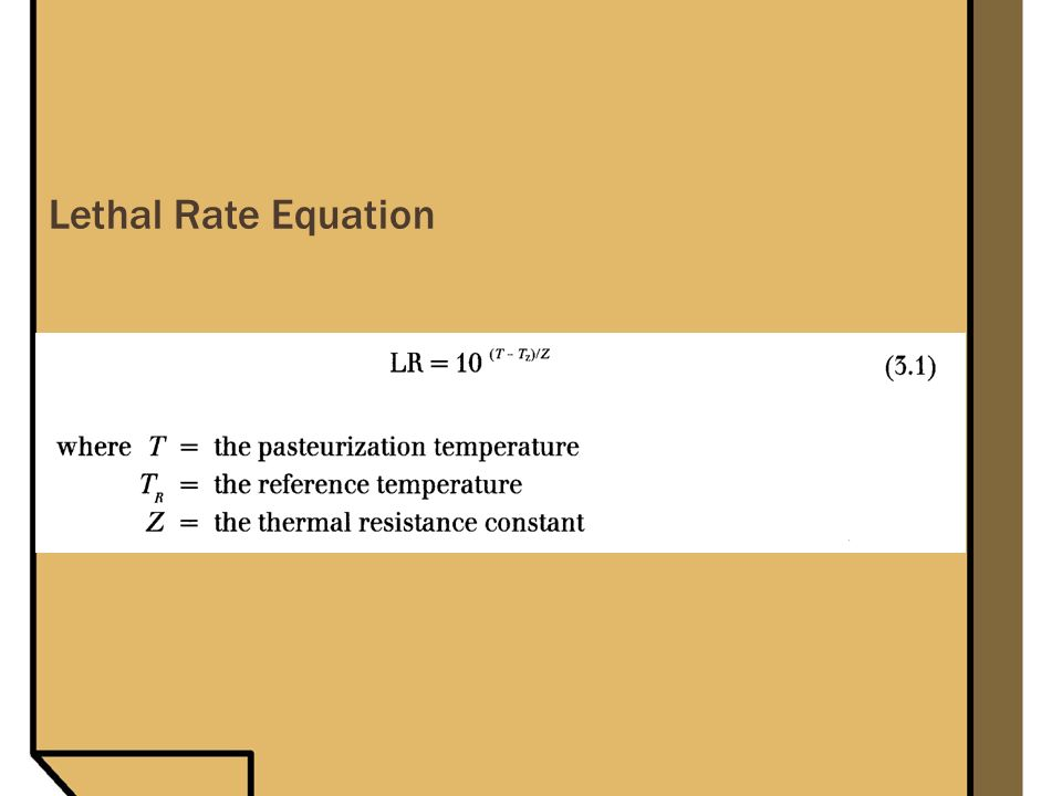 Lethal Rate Equation