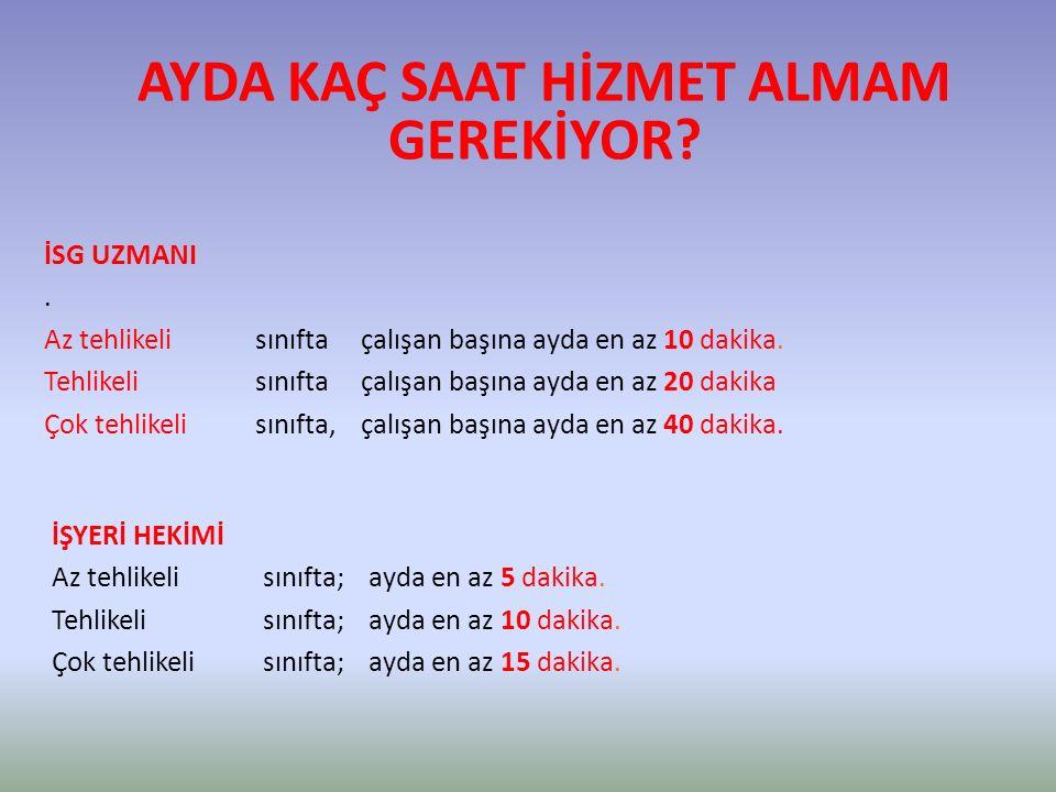 AYDA KAÇ SAAT HİZMET ALMAM GEREKİYOR