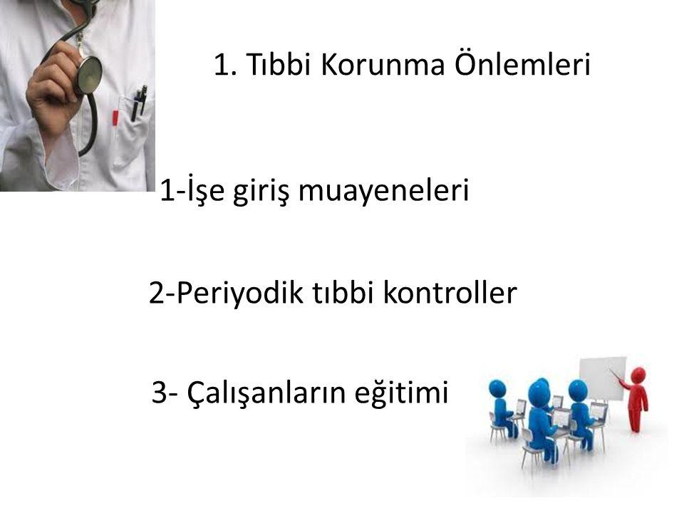1. Tıbbi Korunma Önlemleri