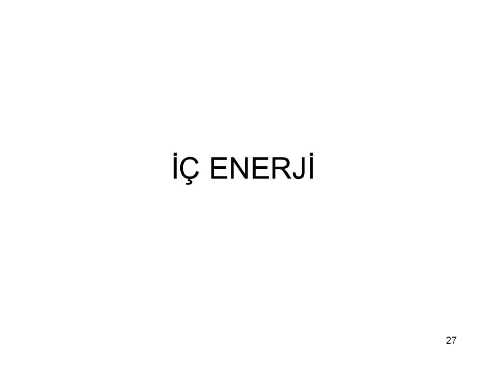 İÇ ENERJİ