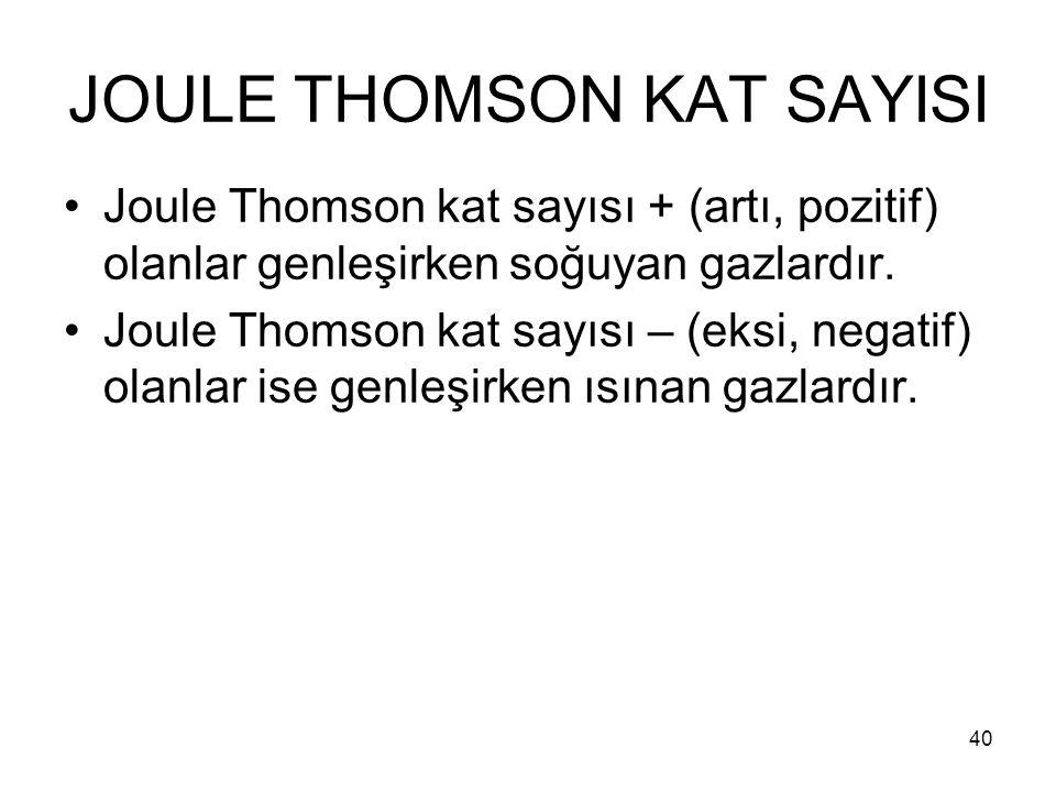 JOULE THOMSON KAT SAYISI