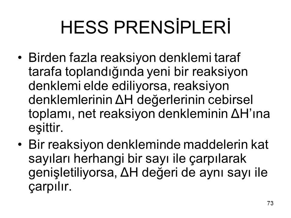 HESS PRENSİPLERİ