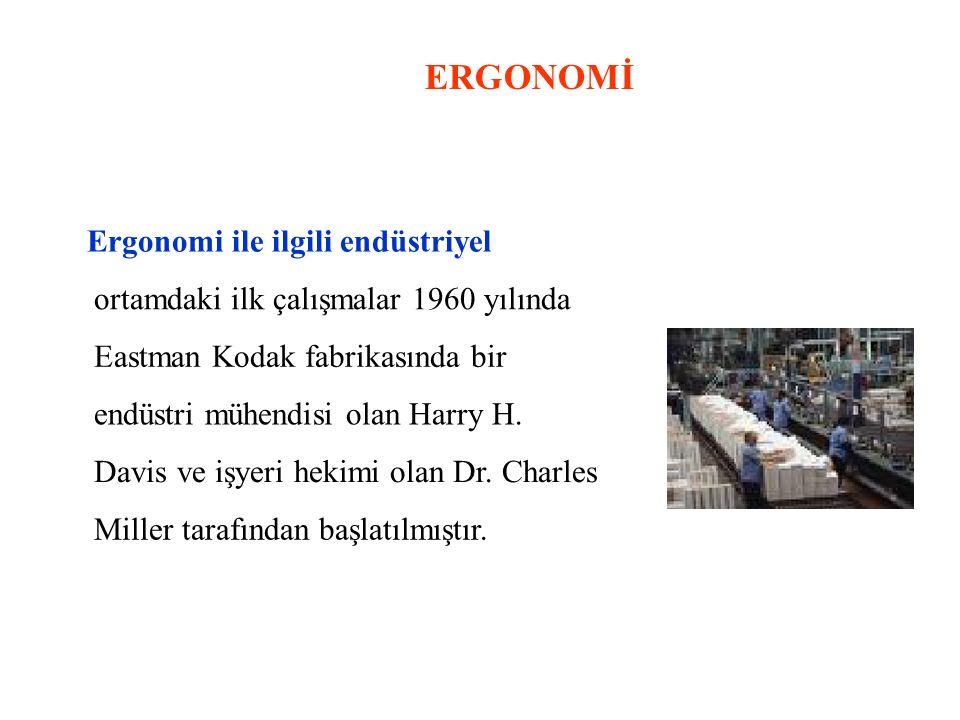 ERGONOMİ Ergonomi ile ilgili endüstriyel
