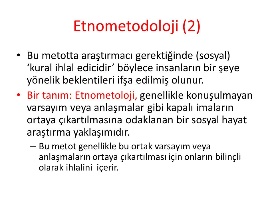Etnometodoloji (2)