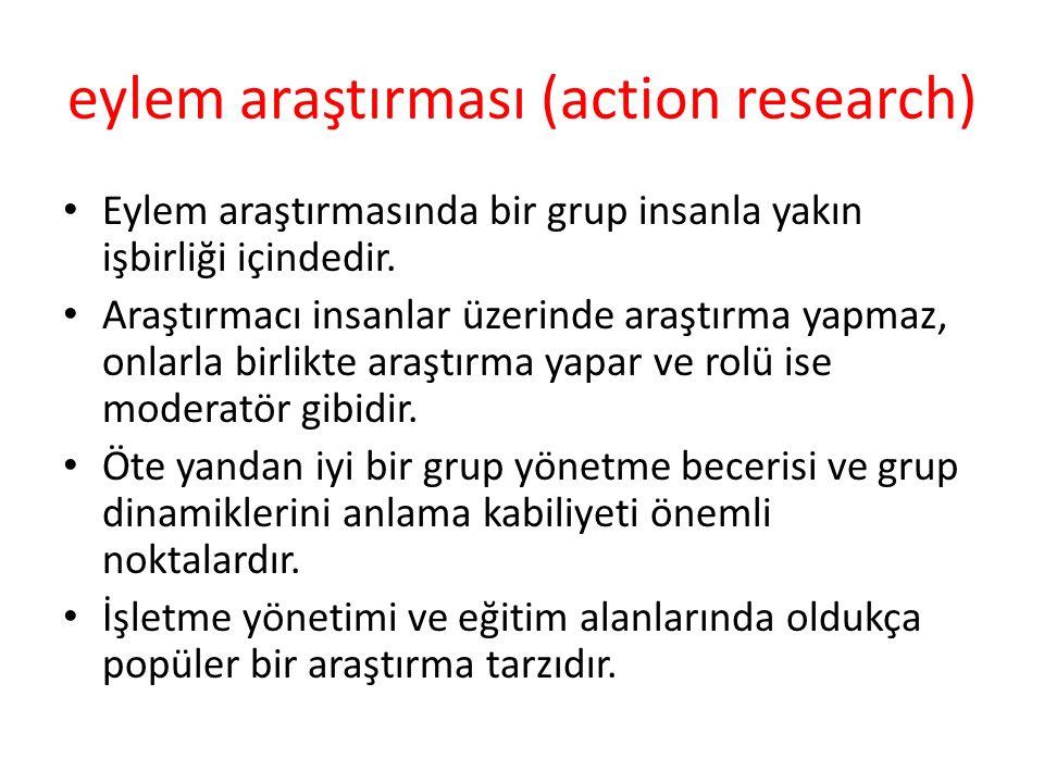 eylem araştırması (action research)
