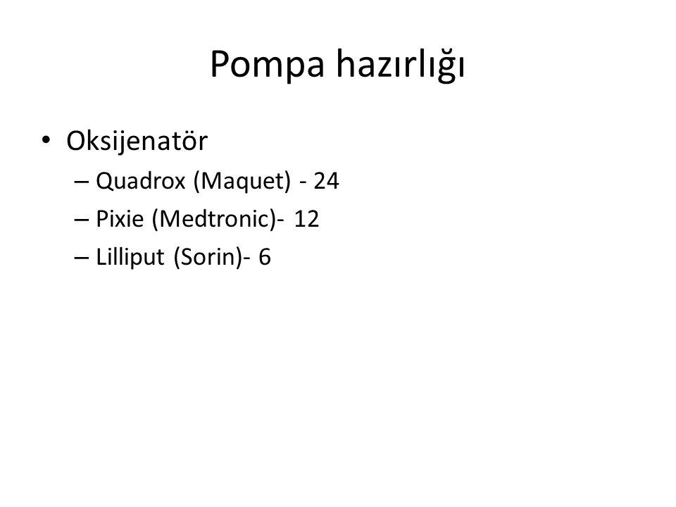 Pompa hazırlığı Oksijenatör Quadrox (Maquet) - 24