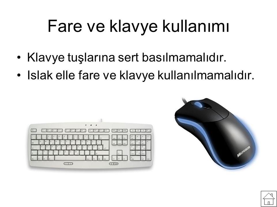 Fare ve klavye kullanımı
