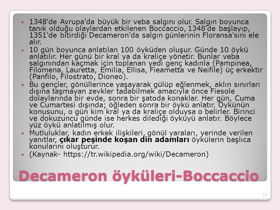 Decameron öyküleri-Boccaccio