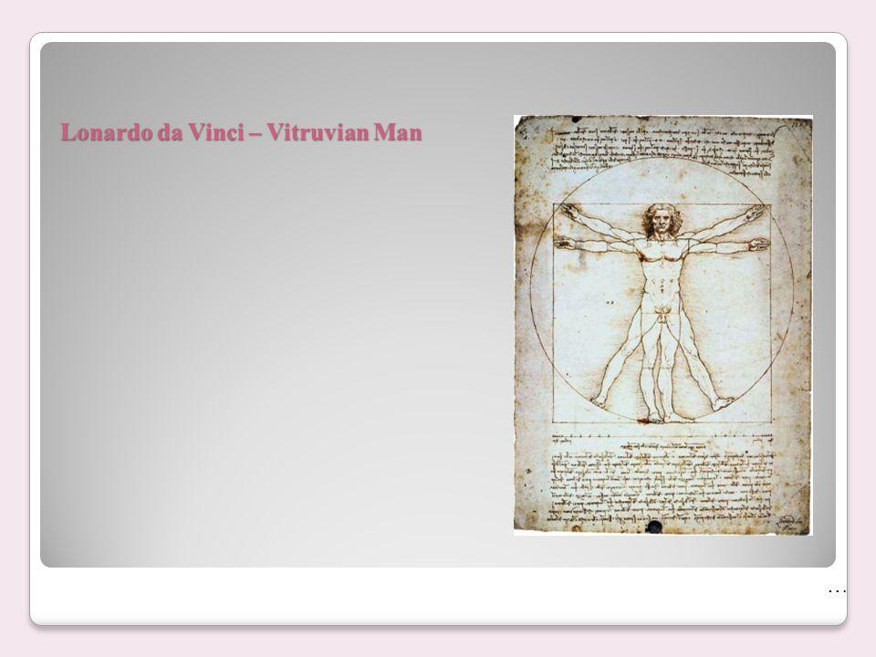 Lonardo da Vinci – Vitruvian Man