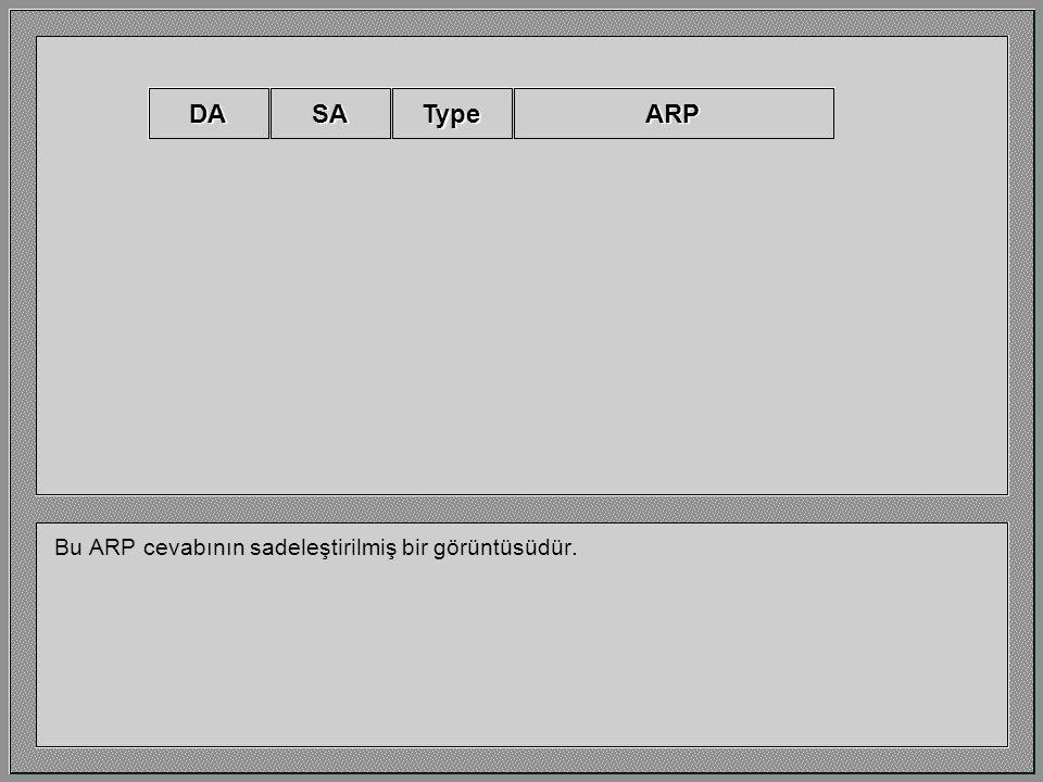 DA SA Type ARP Bu ARP cevabının sadeleştirilmiş bir görüntüsüdür.
